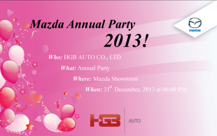 Mazda Annual Party